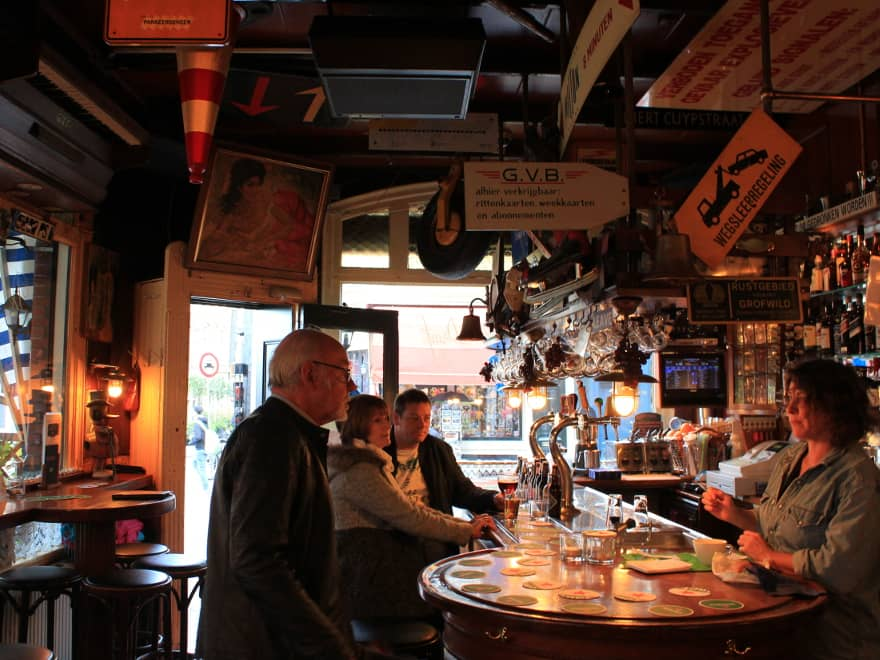Behind the bar view in Amsterdam